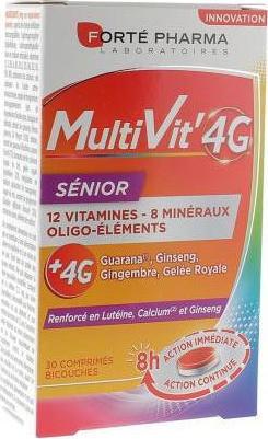Forte Pharma Multivit 4G 30 Δισκία