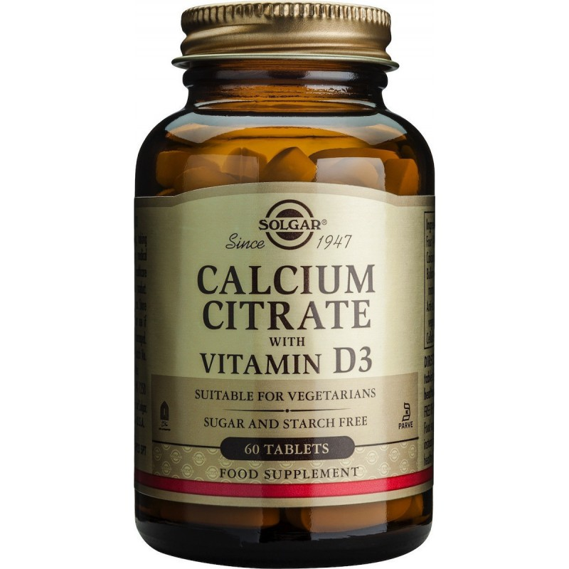 Solgar Calcium Citrate with Vitamin D3 60 ταμπλέτες