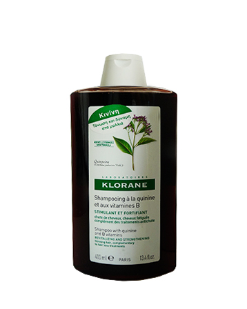 Klorane Σαμπουάν αγωγής με κινίνη και βιταμίνες Β 400ml