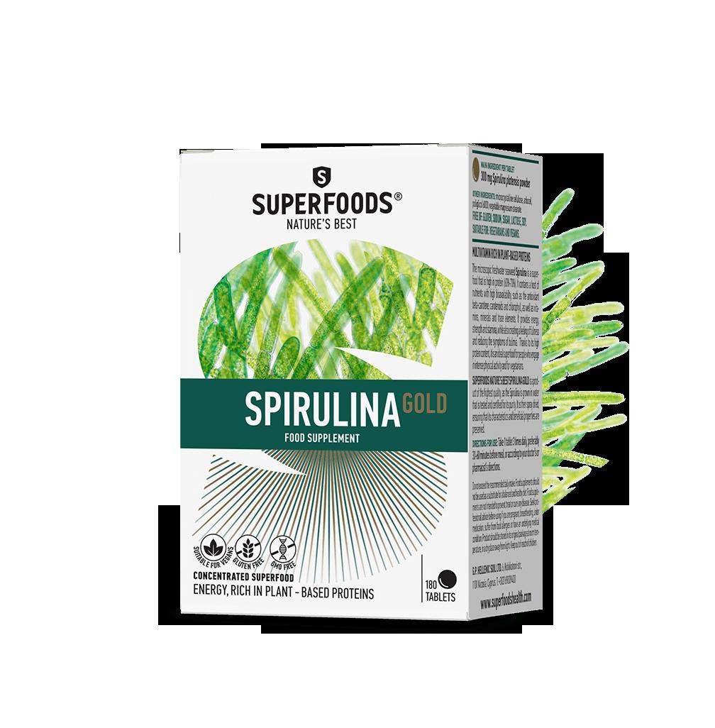 Superfoods Σπιρουλίνα Gold 180 ταμπλέτες