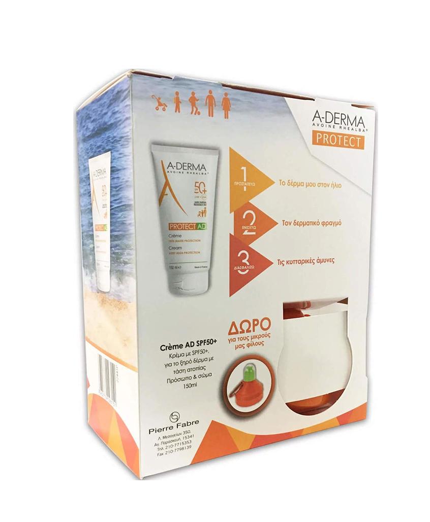 ADERMA PROTECT AD SPF50+ Cream 150ml & ΔΩΡΟ Παγουράκι