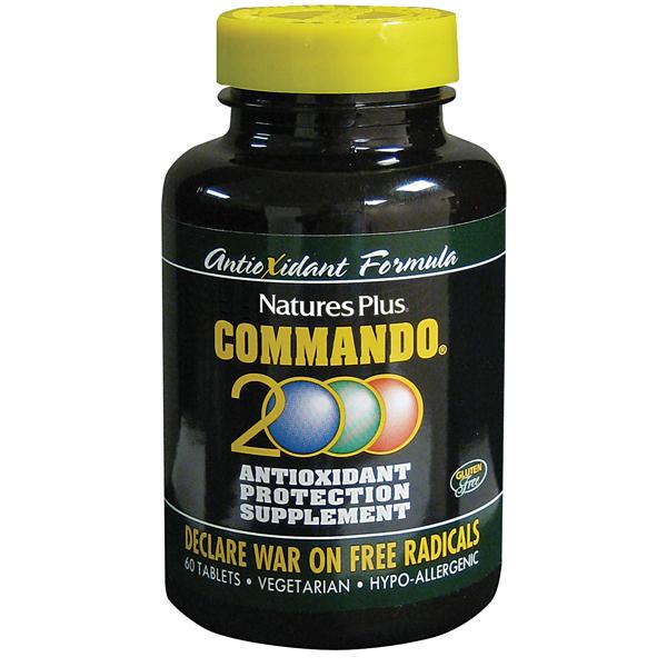 NaturesPlus Commando 2000 60 ταμπλέτες