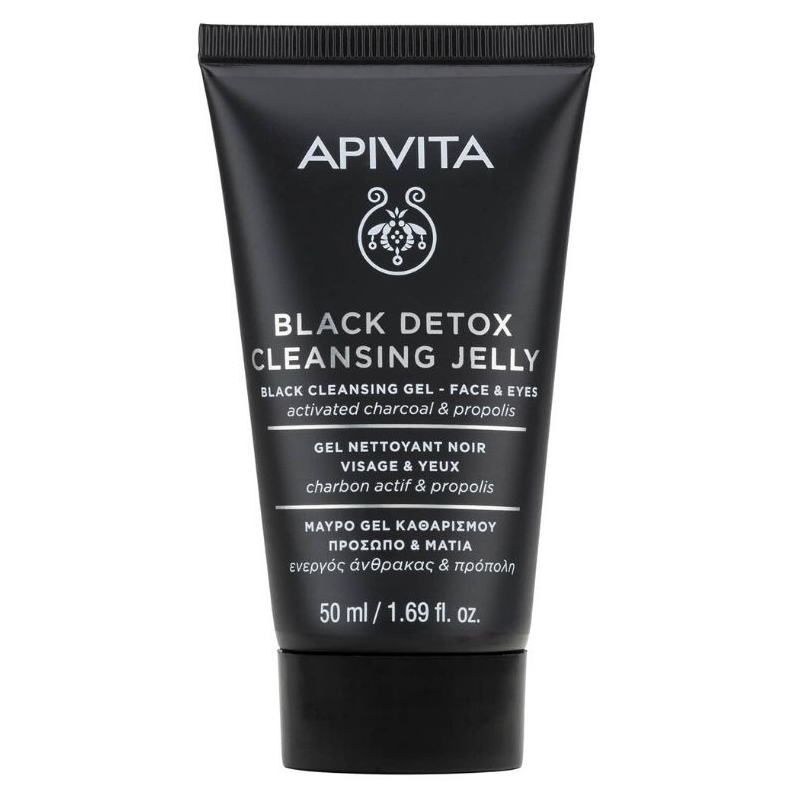 Apivita Black Detox Cleansing Jelly Face & Eyes 50ml