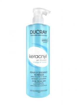 Ducray Keracnyl Gel Moussant Πρόσωπο και Σώμα 400ml