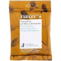 Korres Herb Balsam Pastilles Καραμέλες με Μέλι & Echinacea 15 καραμέλες