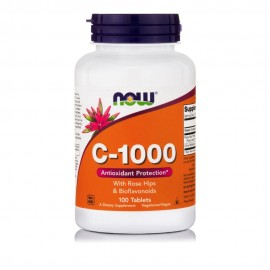 Now Foods C-1000mg With Rose Hips And Bioflavonoids 100 ταμπλέτες