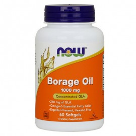 Now Borage Oil 1000mg 60 μαλακές κάψουλες