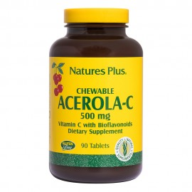 NaturesPlus Acerola C Complex 500mg 90 chewable tabs