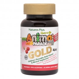 NaturesPlus Animal Parade GOLD Cherry Flavor 60 μασώμενες ταμπλέτες