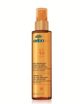 NUXE Sun Λάδι μαυρίσματος SPF10