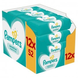 Pampers Sensitive Clean Monthly Box 624τμχ (12x52 μωρομάντηλα)