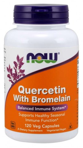 Now Quercetin with Bromelain 120 φυτικές κάψουλες