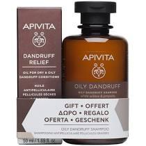 Apivita Set Dandruff Relief Λάδι κατά της Ξηροδερμίας και της Πιτυρίδας 50ml + Δώρο Dry Dandruff Σαμπουάν Κατά Της Ξηροδερμίας Με Σέλερι & Πρόπολη 250 …