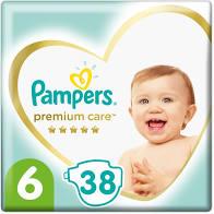 Pampers Premium Care No6 (13+kg) 38 πάνες