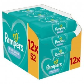 Pampers Fresh Clean Monthly Box 624τμχ (12x52 μωρομάντηλα)
