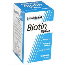 HealthAid Biotin 800μg 30tablets