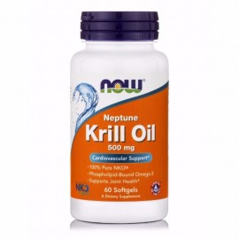 Now Neptune Krill Oil 500mg 60 μαλακές κάψουλες
