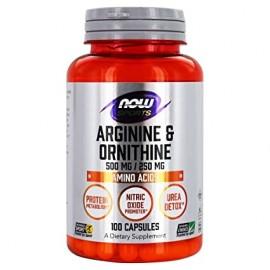 Now L-Arginine & L-Ornithine (Sports) 100 caps