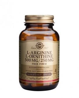 Solgar L-Aginine/L-Ornithine 500/250mg 50 φυτοκάψουλες