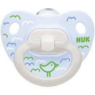Nuk Happy Days Πιπίλα Σιλικόνης Γαλάζιο 0-6 μηνών, 1τεμ
