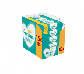Pampers Sensitive Wipes E-Box XXL 1200τμχ (15x80 μωρομάντηλα)