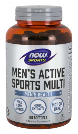 Now Mens Active Sports Multi 90softgels