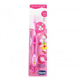 Chicco Παιδική Οδοντόβουρτσα 3-6 ετών Ροζ