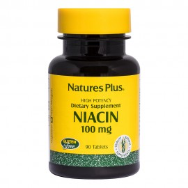 Natures Plus Niacin (Nicotinic Acid, B3) 100 mg 90 tabs
