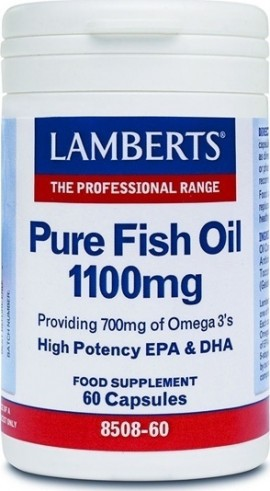 Lamberts Pure Fish Oil 1100mg 60 κάψουλες