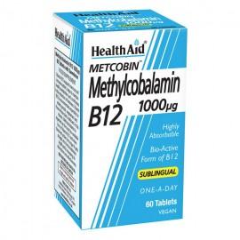 Health Aid Methylcobalamin Metcobin 1000mcg 60 υπογλώσσιες ταμπλέτες