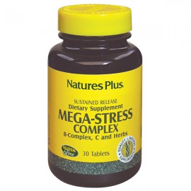 NaturesPlus Mega-Stress Complex - 30 Sustained Release Tablets