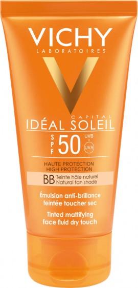 Vichy Ideal Soleil BB Αντηλιακή με Χρώμα & Ματ αποτέλεσμα SPF 50+ 50ml