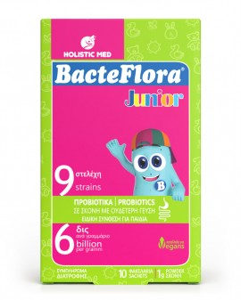 HolisticMed BacteFlora Junior 10 φακελάκια