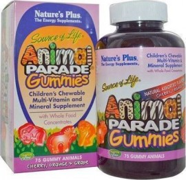 NaturesPlus Animal Parade Gummies Assorted Flavors 75 Μασώμενα Ζελεδάκια