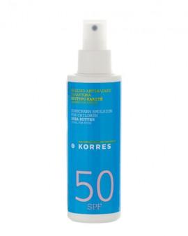 ΚΟΡΡΕΣ Παιδικό Αντηλιακό Γαλάκτωμα Βούτυρο Karite Spray SPF50