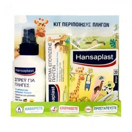 Hansaplast Παιδικό Κιτ Περιποίησης Πληγών Hansaplast Σπρέι για Πληγές 100ml + Hansaplast Animal 20 Strips + Hansaplast Κρέμα Επούλωσης Πληγών 50gr