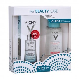 Vichy My Beauty Care Mineral 89 Booster Ενδυνάμωσης Προσώπου 50ml & Micellar Water για Ευαίσθητες Επιδερμίδες 100ml