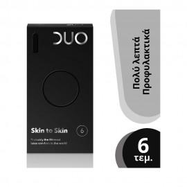 DUO Skin to Skin Προφυλακτικά Λεπτά 6 τεμάχια