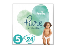 Pampers Pure Protection Μέγεθος 5 (11+kg) 24 Πάνες