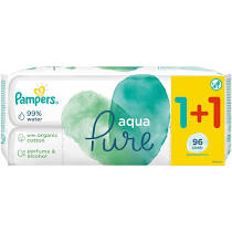 Pampers Aqua Pure Wipes 48τμχ 1+1 Δώρο 96 wipes