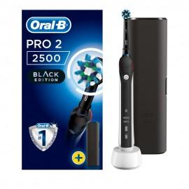 Oral-B Pro2 2500 Black Edition Ηλεκτρική Οδοντόβουρτσα + ΔΩΡΟ Θήκη Ταξιδίου
