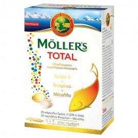 Mollers Total 28caps Ω3 + 28tabs Βιταμίνες & Μέταλλα