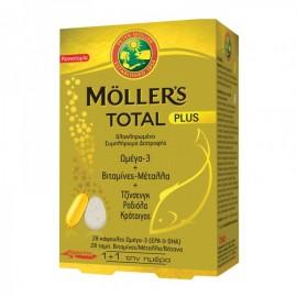 Mollers Total Plus  28κάψουλες Ωμέγα3 & 28ταμπλέτες Μέταλλα