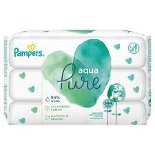 Pampers Aqua Pure Wipes 3x48τμχ 144 wipes