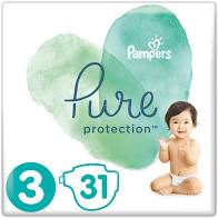 Pampers Pure Protection Μέγεθος 3 (6-10kg) 31 Πάνες