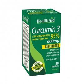 HealthAid Curcumin 3 600mg 30 ταμπλέτες