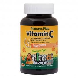 NaturesPlus Animal Parade Vitamin C 90 μασώμενες ταμπλέτες