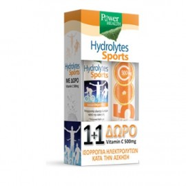POWER HEALTH Promo Hydrolytes Sports με Γεύση Λεμόνι 20Tabs & ΔΩΡΟ Vitamin C 500mg 20Tabs