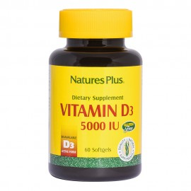 NaturesPlus Vitamin D3 5000 IU 60 softgels
