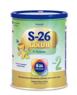 S-26 Gold No2 Γάλα 2ης Βρεφικής Ηλικίας 400gr